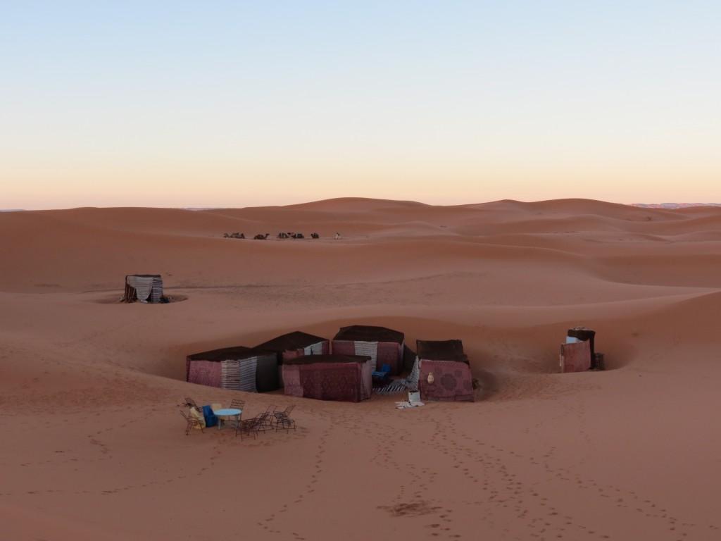 Das Camp für die Nacht