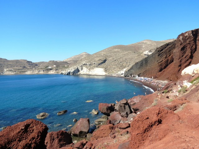 Geheimtipps Santorini Urlaub Kykladeninsel Strand Red Beach