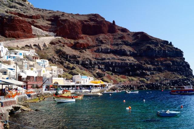 Geheimtipps Santorini Urlaub Kykladeninsel Ammoudi Hafen