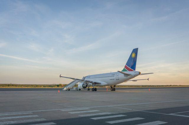 Namibia Rundreise Windhoek Air Namibia Flug