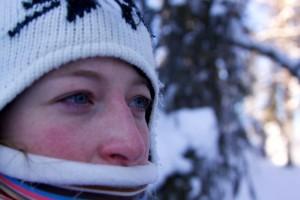 Lappland im Winter Eistropfen