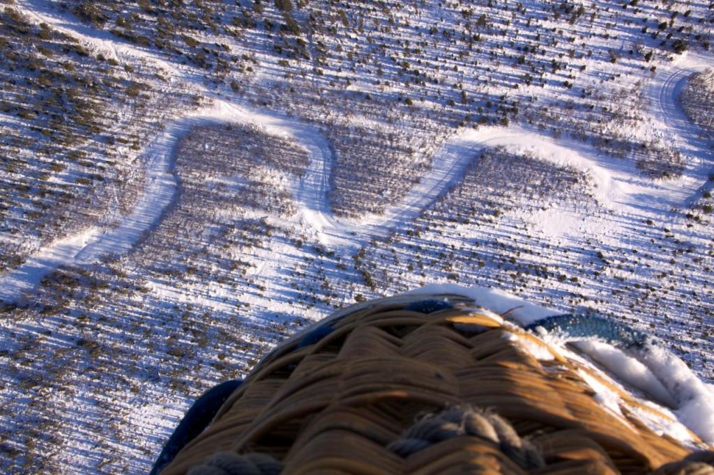 Lappland im Winter Heißluftballon Aussicht