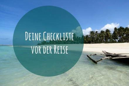 Checkliste Reisevorbereitung