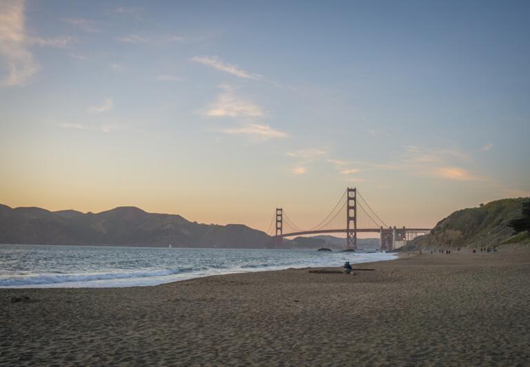 Die schoensten Straende der Welt Baker Beach Kalifornien