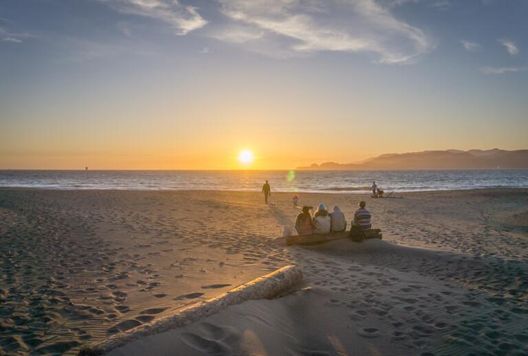 Die schoensten Straende der Welt Baker Beach San Francisco