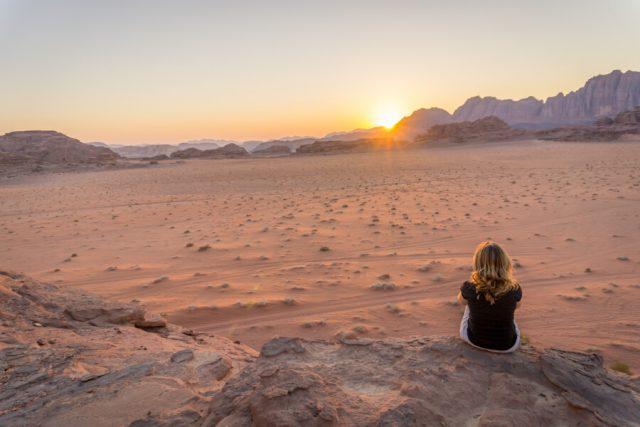 Jordanien solo Wadi Rum