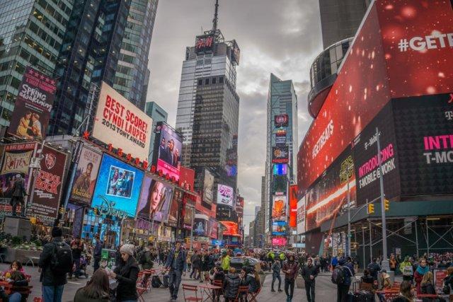 New York Sehenswuerdigkeiten Times Square