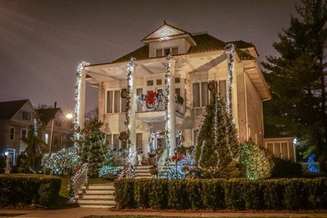 New York Weihnachten Dyker Heights