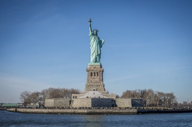 New York Freiheitsstatue Miss Liberty