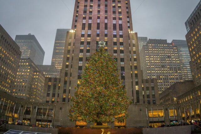 New York Weihnachtsbaum Rockefeller Center