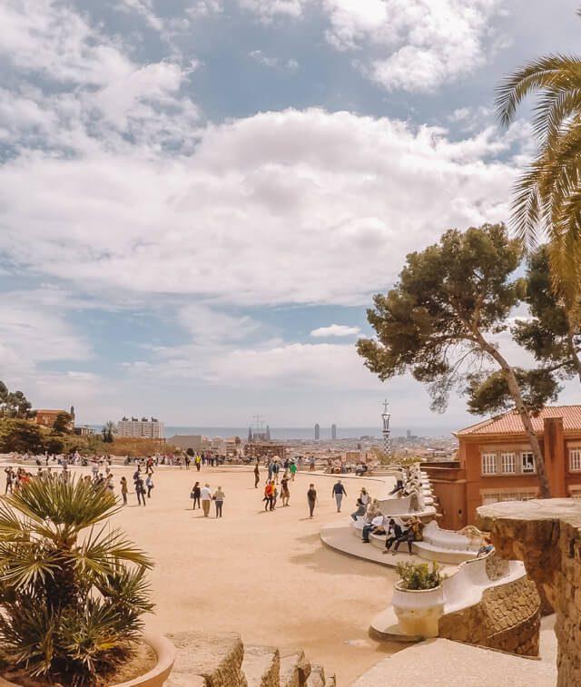 Barcelona Sehenswuerdigkeiten Park Gueell La Placa