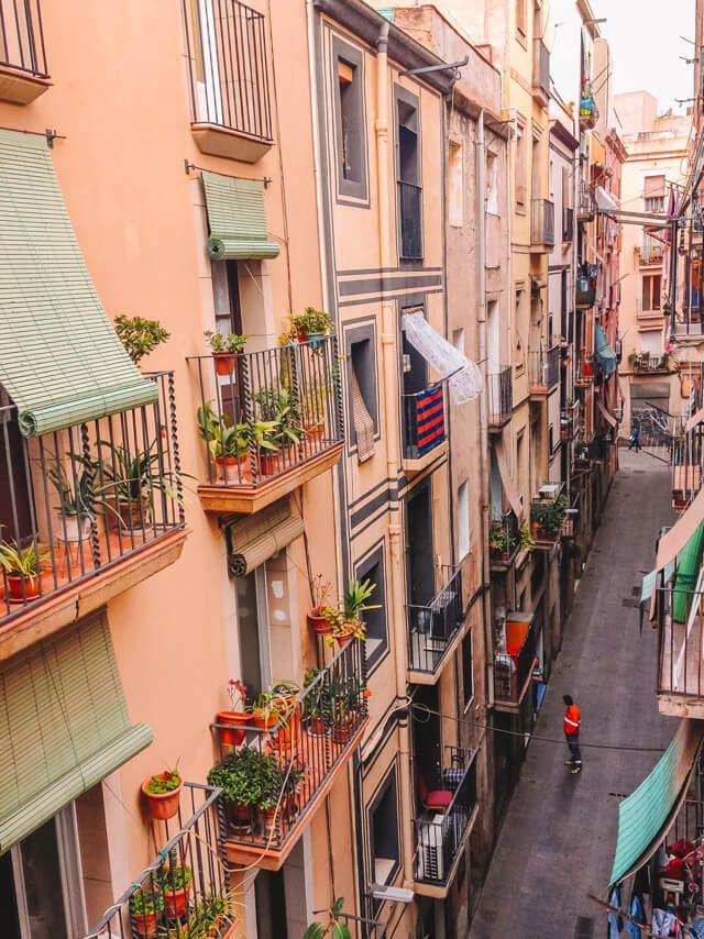 El Raval Gassen Barcelona