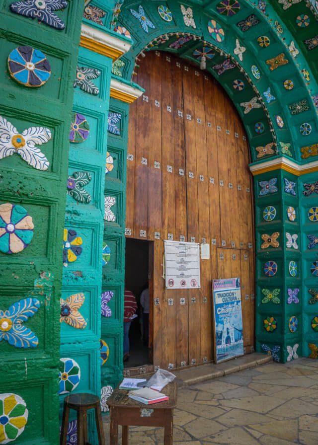 San Cristobal de las Casas Chamula Kirche Eingang