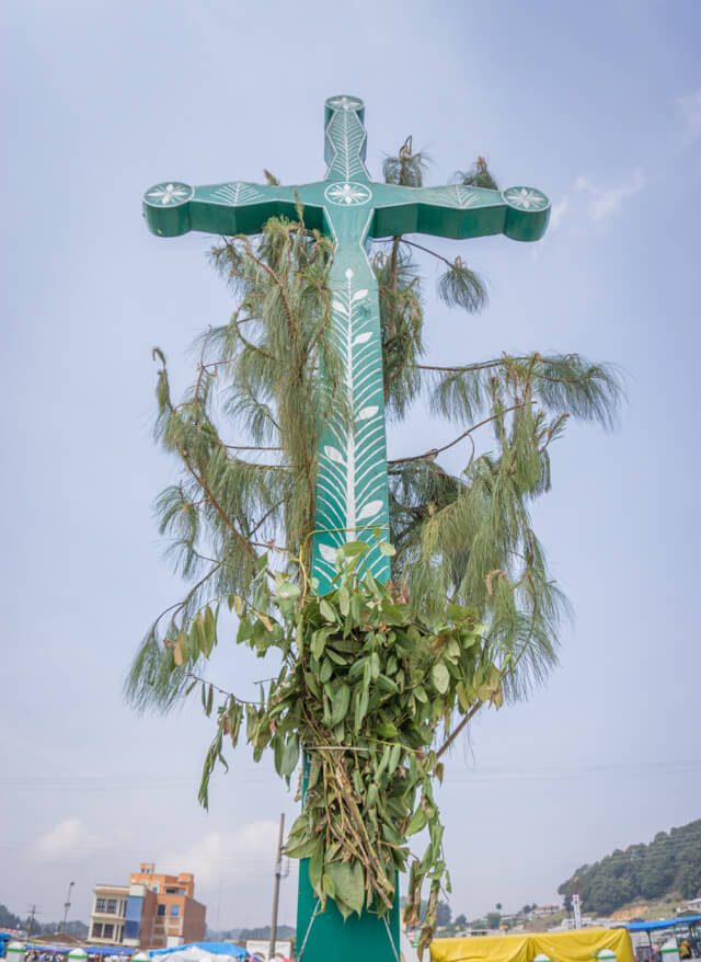San Cristobal de las Casas Chamula Kirche Kreuz