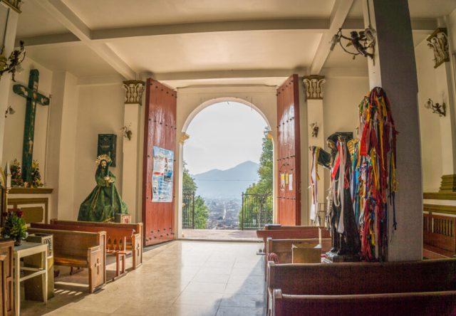 San Cristobal de las Casas Mexiko Iglesia de Guadalupe Ausblick
