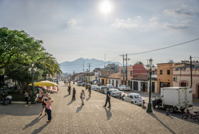 San Cristobal de las Casas Mexiko Iglesia de Guadalupe Platz