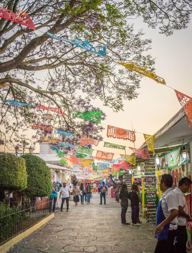 San Cristobal de las Casas Mexiko Iglesia de la Merced Markt