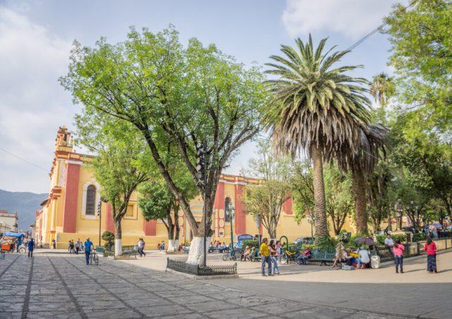 San Cristobal de las Casas Mexiko Kathedrale Park