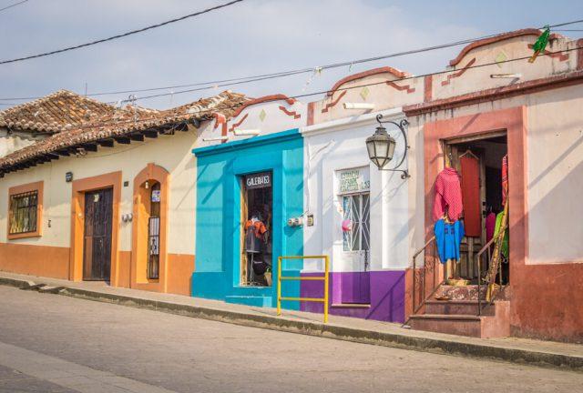 San Cristobal de las Casas Mexiko bunte Haeuser