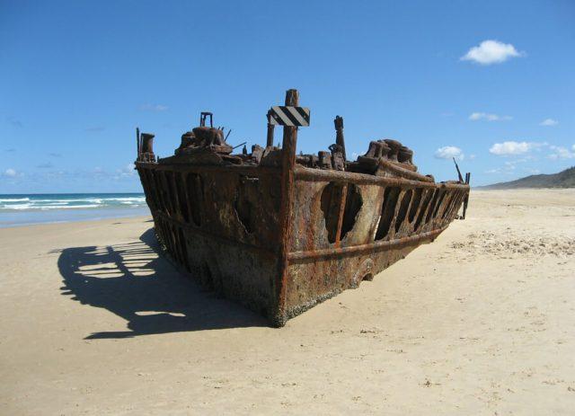 Australien Ostkueste Wrack Fraser Island