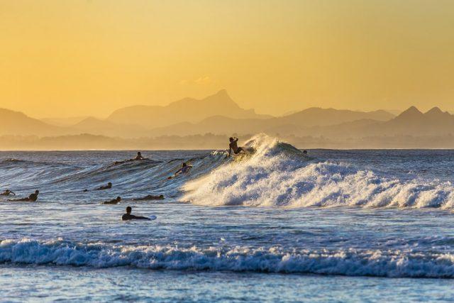 Australien Surfer Byron Bay
