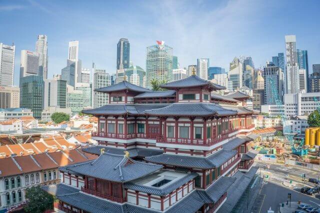 Singapur Sehenswuerdigkeiten Buddha Tooth Relic Tempel Chinatown