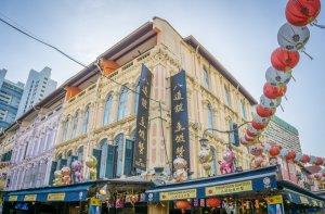 Singapur Sehenswuerdigkeiten Chinatown Pagoda Street