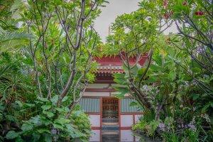 Singapur Sehenswuerdigkeiten Dachgarten Buddha Tooth Relic Tempel