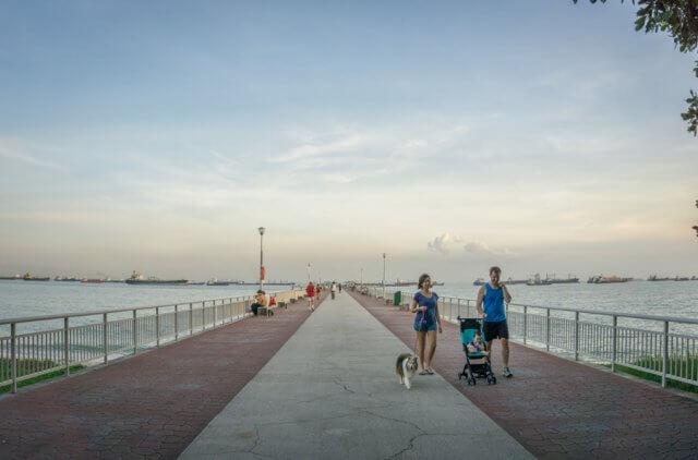 Singapur Sehenswuerdigkeiten East Coast Park Pier