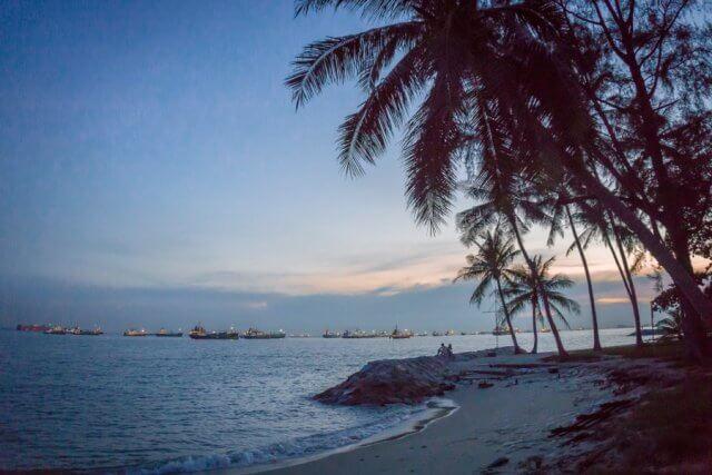 Singapur Sehenswuerdigkeiten East Coast Park Sunset
