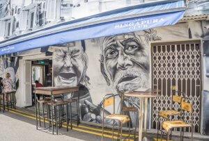 Singapur Sehenswuerdigkeiten Kampong Glam Haji Lane Streetart