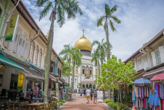 Singapur Sehenswuerdigkeiten Kampong Glam Sultan Moschee Reiseziele August Urlaub