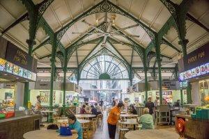 Singapur Sehenswuerdigkeiten Lau Pa Sat Foodmarket