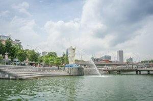 Singapur Sehenswuerdigkeiten Marina Bay Merlion