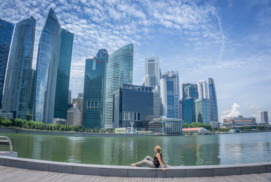 Singapur Sehenswuerdigkeiten Skyline Financial District