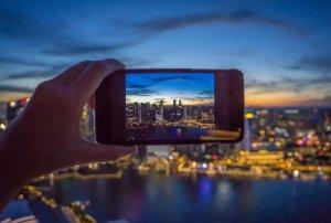 Singapur Sehenswuerdigkeiten Skyline Skybar Sunset Sonnenuntergang ce la vi Marina Bay Sands
