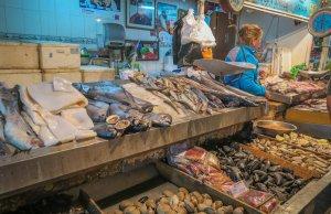 Santiago de Chile Fischmarkt