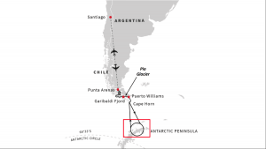Antarktis Hurtigruten Chile Expedition Route