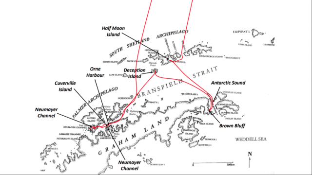 Antarktis Hurtigruten Chile Expedition Route MS Midnatsol