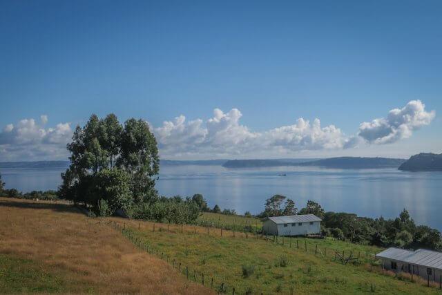 Chiloe Chile Dalcahue Aussicht