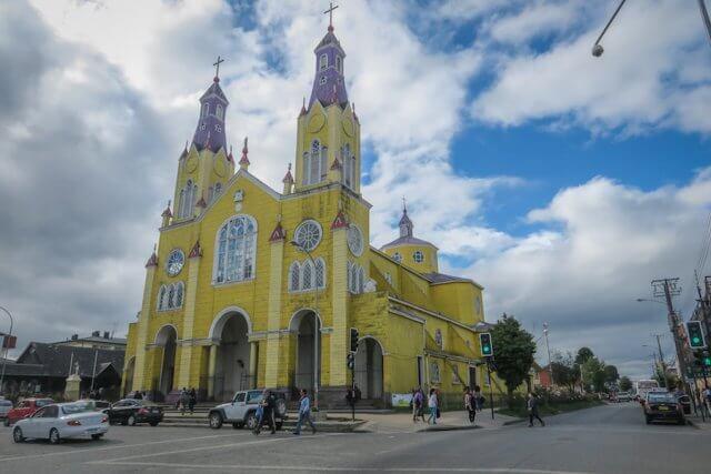 Chiloe Chile Castro Kirche