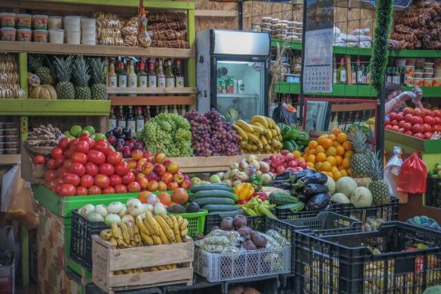 Chiloe Chile Markthalle Gemüse