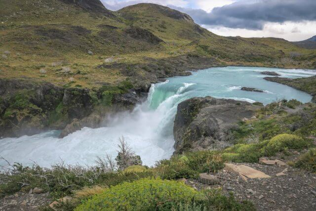 Torres del Paine Chile Wasserfall