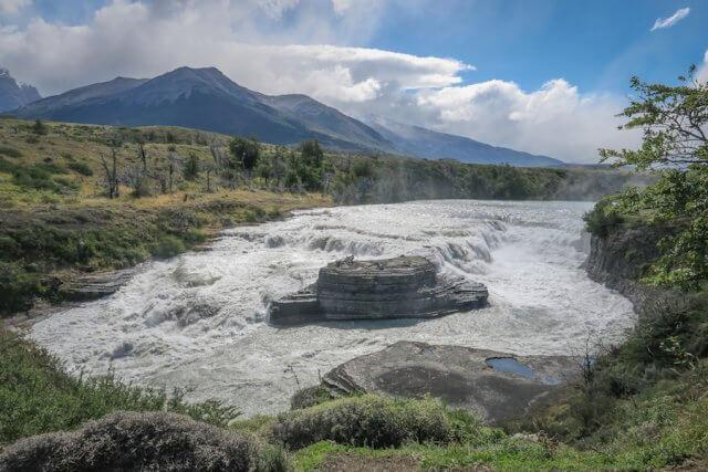 Torres del Paine Trekking Wasserfall