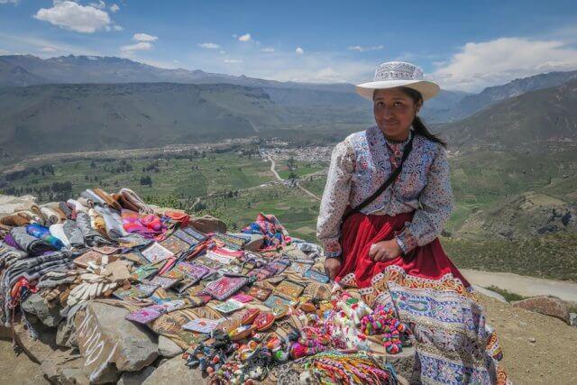 Arequipa Colca Canyon Frau