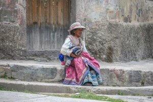 Arequipa Colca Canyon alte Frau
