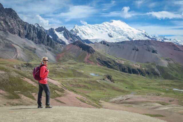 Cusco_Rainbow Mountain Wanderung Aussicht