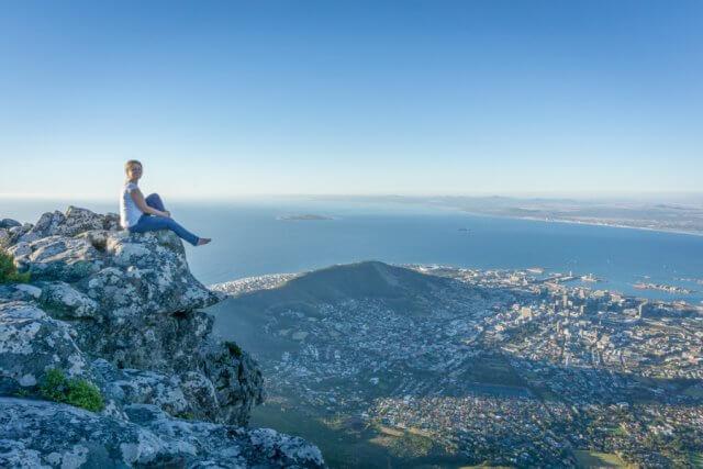 Kapstadt Urlaub Suedafrika Tafelberg Aussicht