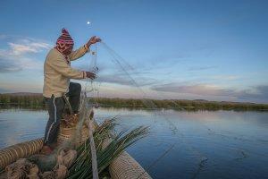 Peru Sehenswürdigkeiten La Paz Titikakasee Uros Titikaka Lodge Fischen Peru Sehenswürdigkeiten
