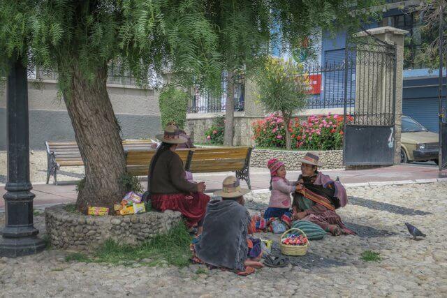 La Paz Titikakasee Einheimische